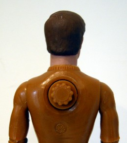 Dial on back of Buck Hunter action figure