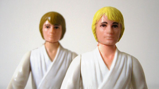 Luke Skywalker with brown and yellow hair