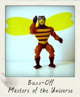 Masters of the Universe 1984 Buzz-Off figure by Mattel