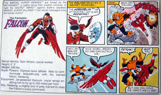 Secret Wars - Falcon - original backing card