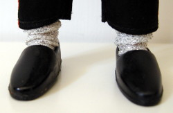 MJ's glittering white socks