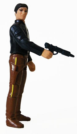 Han Solo with blue Bespin Blaster
