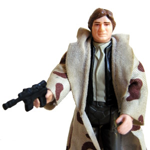 Han Solo on Endor in Trench Coat