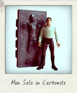 Han Solo in Carbonite with Carbonite Block!