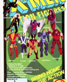 Vintage 1991 X-Men action figures by Toy Biz