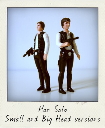 Star Wars Variations: Big and small head Han Solo