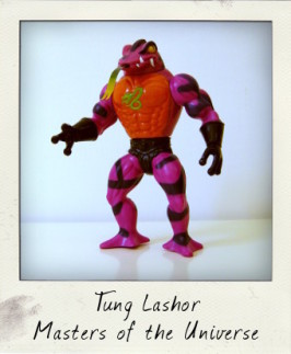 Masters of the Universe 1986 Tung Lashor figure by Mattel