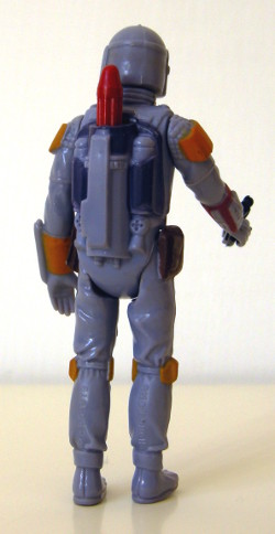 Boba Fett - back of 1979 action figure