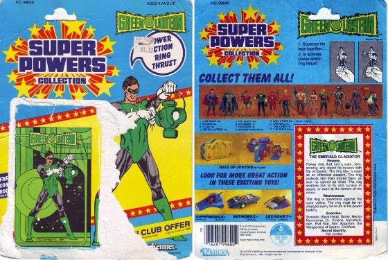 Green Lantern - original backing card