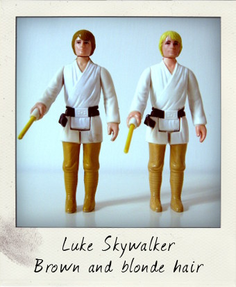 Luke Skywalker - brown and yellow haired versions