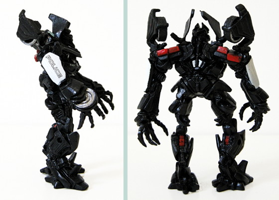 Barricade action figure - side and back view