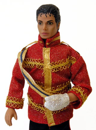 Michael Jackson - dressed in his 1984 American Music Awards outfit