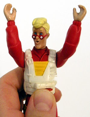 Egon Spengler lets rip a scream!