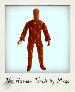 The Human Torch meets Robin in a mega Mego mashup!