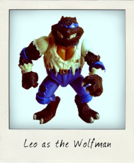 Universal Studios Monster Turtles starring Leo as the Wolfman!