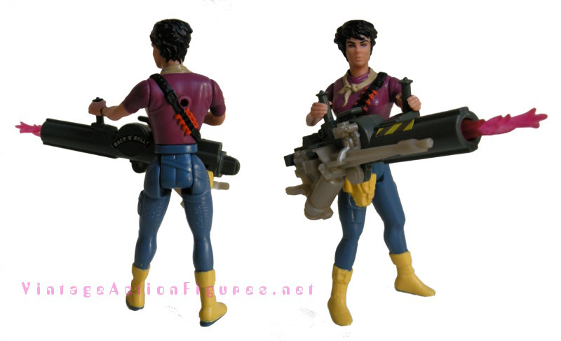 Aliens - Lt. Ripley. Front and back of figure