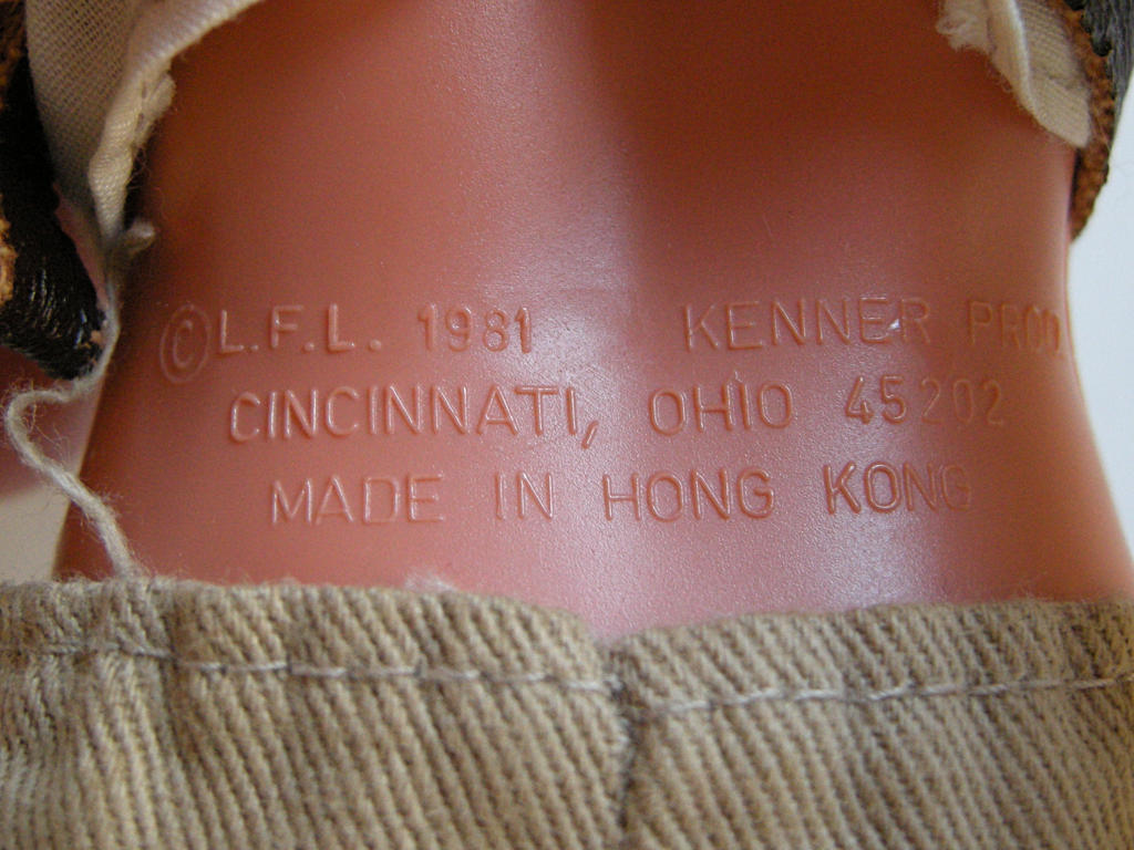 ©L.F.L. 1981 KENNER PROD. CINCINNATI, OHIO 45202 MADE IN HONG KONG
